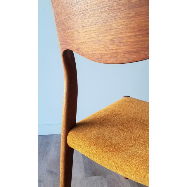 Yellow Newly Upholstered 1960s Niels Moller Model 71 Dining Chairs - Set of 6 For Sale - Image 8 of 13