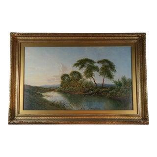 River Lodden Berkshire by Edward Boddington For Sale