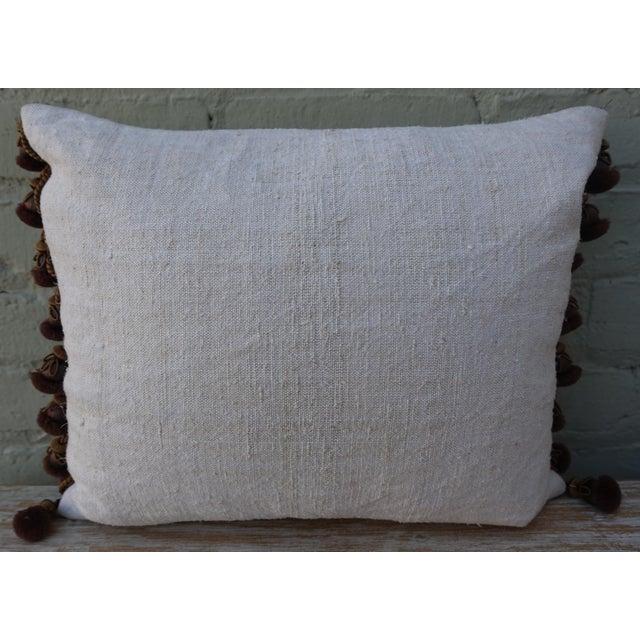 Flower Metallic Applique Linen Pillow - Image 6 of 7