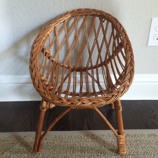 Vintage Child's Wicker Chair - Image 2 of 6
