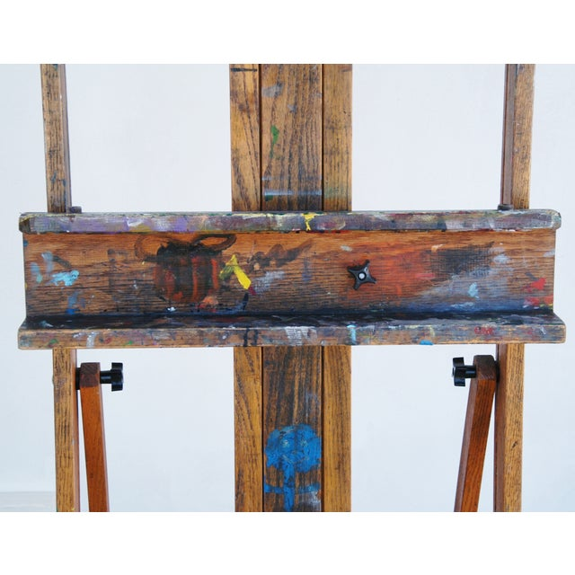 Vintage Adjustable Oak Artist's Easel - Image 3 of 11