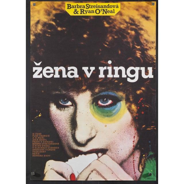"Modern Czech ""The Main Event"" Poster Barbra Streisand For Sale - Image 3 of 3"