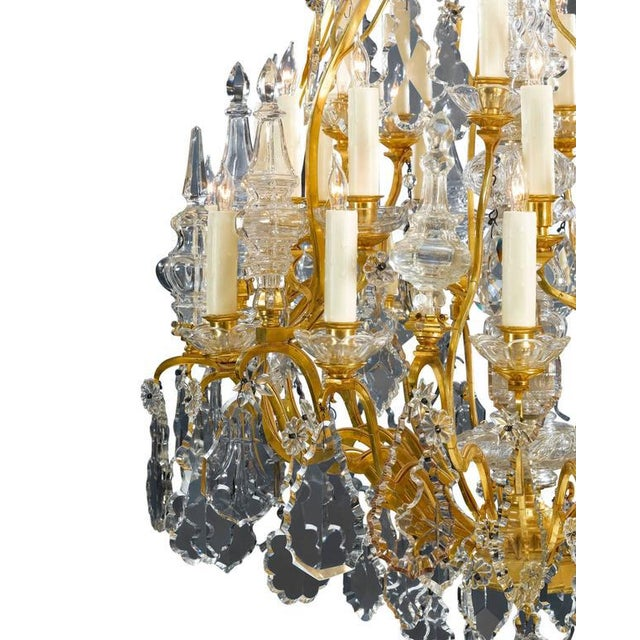 Baccarat Thirty-Light Baccarat Crystal Chandelier For Sale - Image 4 of 5