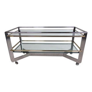 Large Modern Service Trolley or Display Cart For Sale