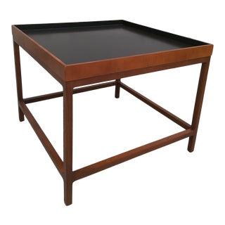 Mid Century Modern Baker Furniture Teak & Walnut Side Table For Sale