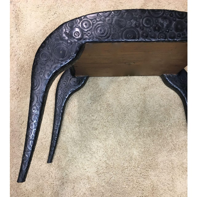 R & Y Agousti French Style Ebony & Shagreen Bench For Sale In Los Angeles - Image 6 of 10