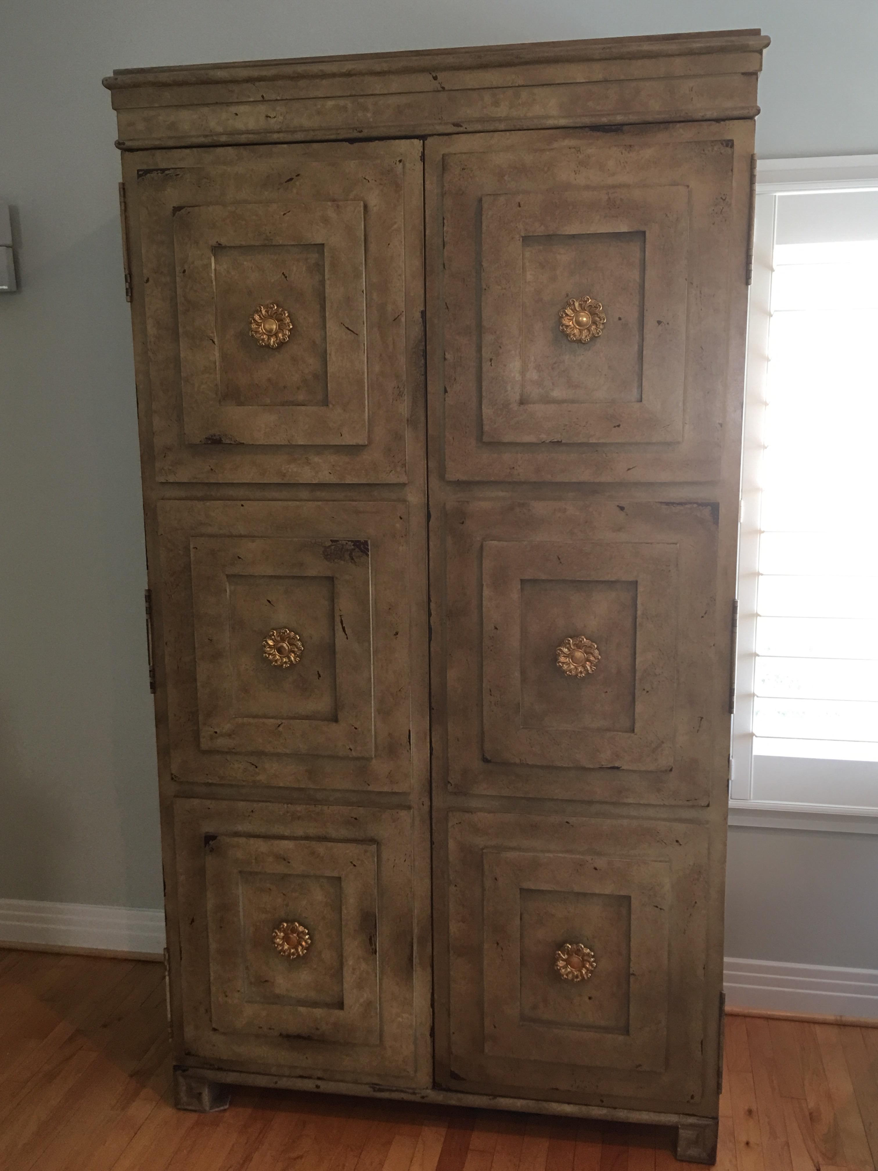The Tuxedo Bar Cabinet And Armoire/Entertainment Center Were Inspired By A  Vintage 1940u0027s French. French Hickory Chair ...