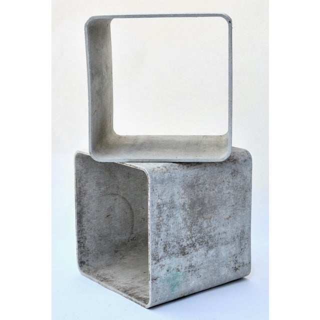 Industrial Authentic Willy Guhl Modular Square Cube Tables For Sale - Image 3 of 7