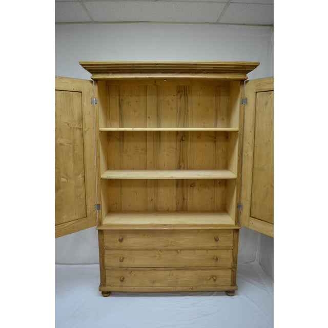 Pine Pine Linen Press For Sale - Image 7 of 10