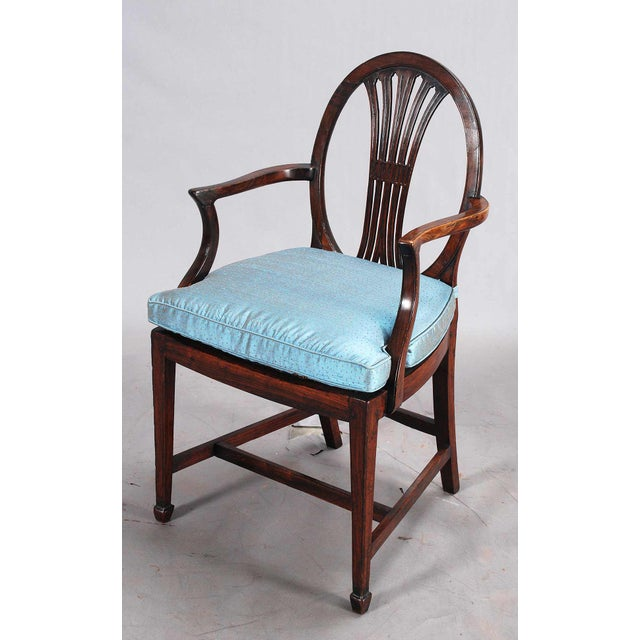 Brown 19th Century Rosewood Armchairs - a Pair For Sale - Image 8 of 9