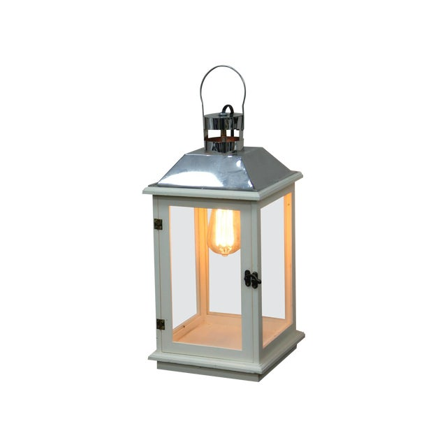 Handmade Electric Lantern Lamp With Edison Bulb - Image 1 of 4