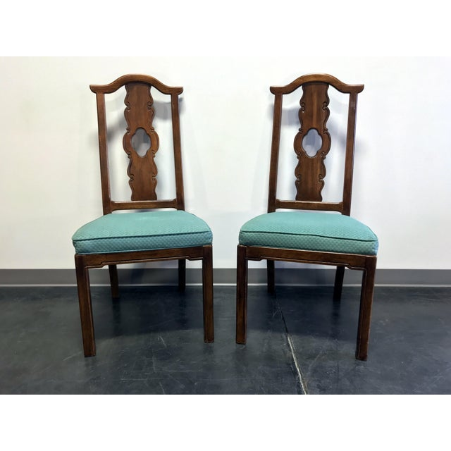 THOMASVILLE Mystique Asian Chinoiserie Dining Side Chairs - Pair 2 For Sale - Image 13 of 13