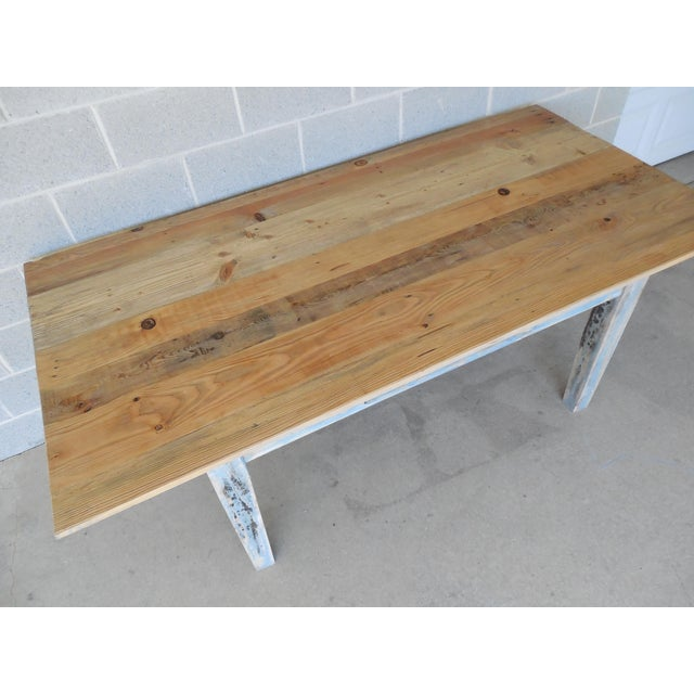 Reclaimed Thin Board Rustic Farm Dining Table - Image 7 of 8