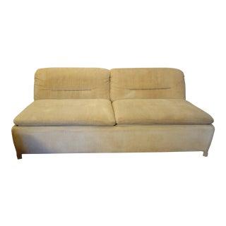 1960s Vintage Giovanni Offredi for Saporiti 2 Seat Sofa For Sale
