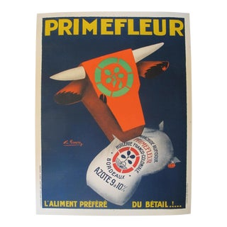1920s Original French Art Deco Advertisement Poster - PrimeFleur - Livestock Feed For Sale