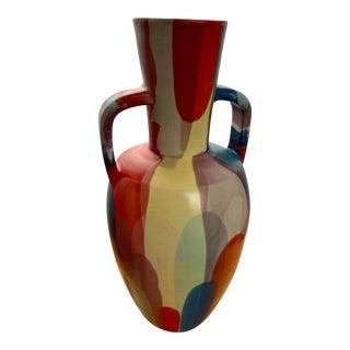 West Elm Expressionist Amphora Vase For Sale