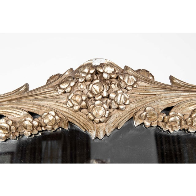Tan Giltwood Frame Mantel / Fire Place Wall Mirror For Sale - Image 8 of 9