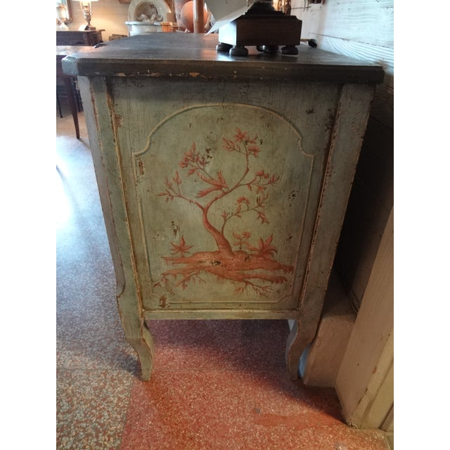 Black 19th Century Italian Painted Commode For Sale - Image 8 of 11