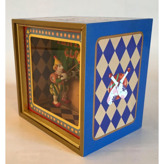 Carnival Vintage Music Box With Animated Clown Plays Bolero For Sale - Image 3 of 4