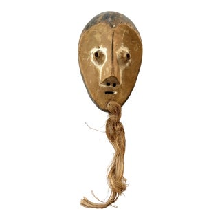 Hand Carved Tribal Wooden Mask For Sale