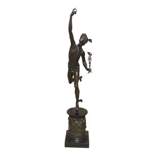 1860 Bronze Mercury Statue