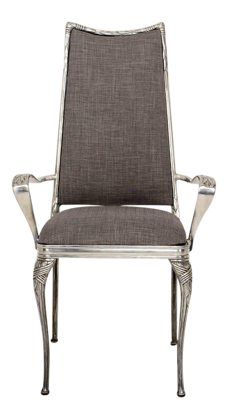 High Quality Set Of Four Aluminum Hollywood Regency Chairs   Image 1 Of 10