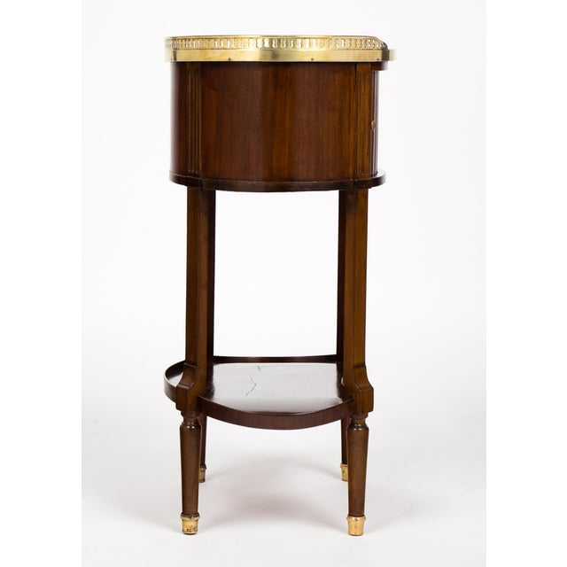Louis XVI Marble-Top Mahogany Side Table - Image 6 of 10