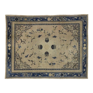 Antique Chinese Peking Rug With Art Deco Style - 08'09 X 11'05 For Sale