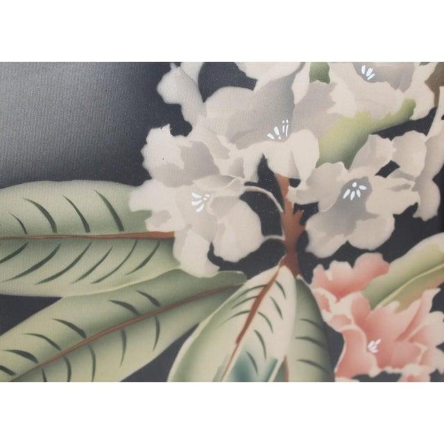 Cottage Vintage Mirror Framed Floral Paintings For Sale - Image 3 of 4