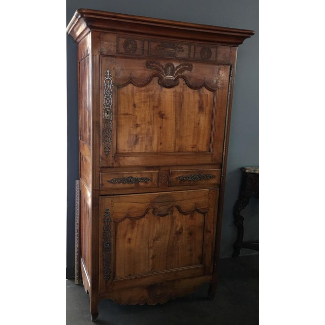 Antique 18th Century French Country Fruitwood Bonnetiere - Image 2 of 8