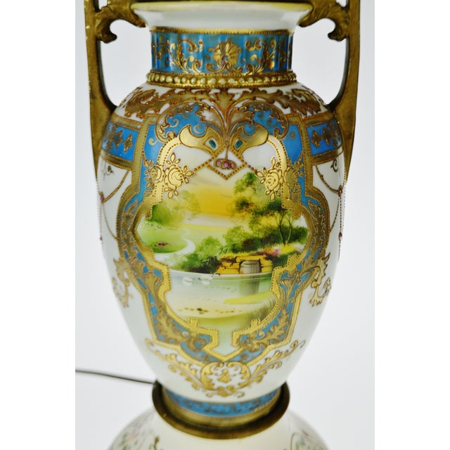 Vintage Japanese Nippon Moriage Gilt Urn Shaped Vase Lamp Chairish