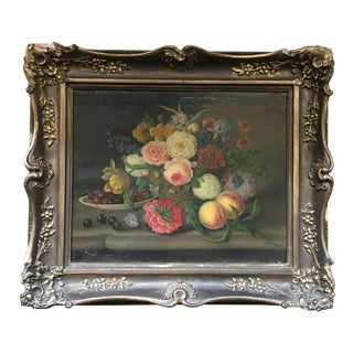 19th Century Traditional Oil on Canvas Still life by G. Seitz