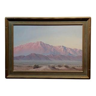 """John William Hilton """"Magic Desert Sundown"""" Oil Painting For Sale"""