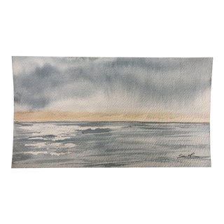"Final Price Before Deactivation! ""Subtle Tease"" Original Watercolor Seascape Painting For Sale"