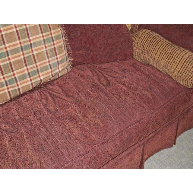 Red Lane Raymond Waites Custom Bolster Sofa For Sale - Image 8 of 13