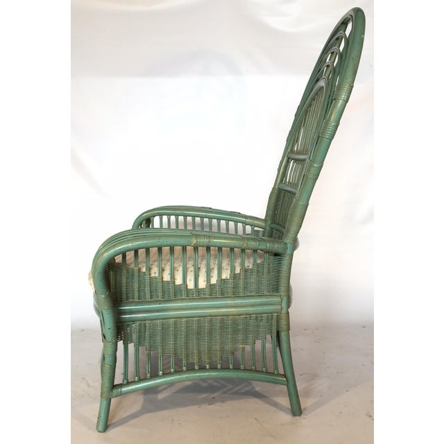 Ficks Reed Rattan Bamboo Fan Back Arm Chair - Image 6 of 11