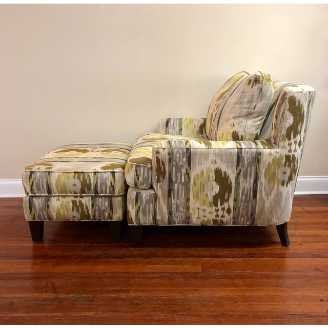 Wondrous Modern Norwalk Orleans Print Chair Matching Ottoman Forskolin Free Trial Chair Design Images Forskolin Free Trialorg