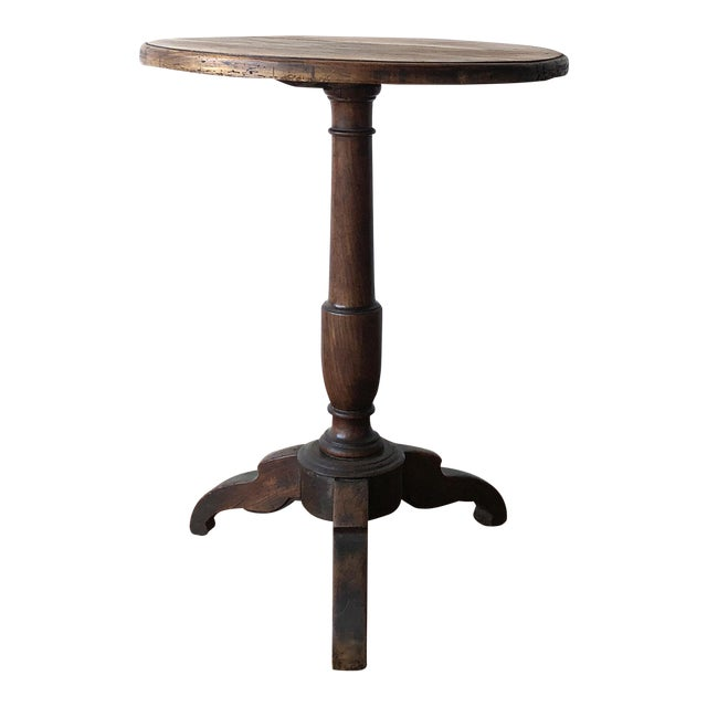 Early 20th Century French Country Oak Wine Table For Sale