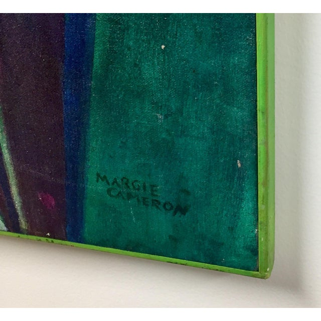 Abstract Abstract Oil on Canvas Painting by Margie Cameron For Sale - Image 3 of 4