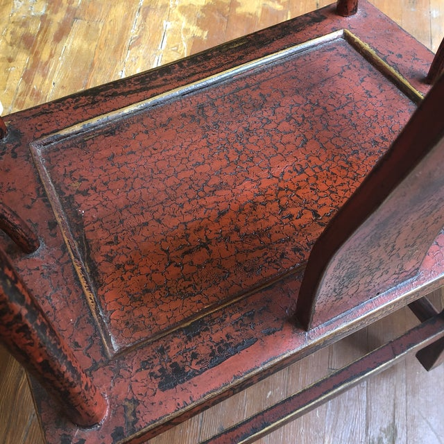Wood Red Empire Chairs- a Pair For Sale - Image 7 of 13