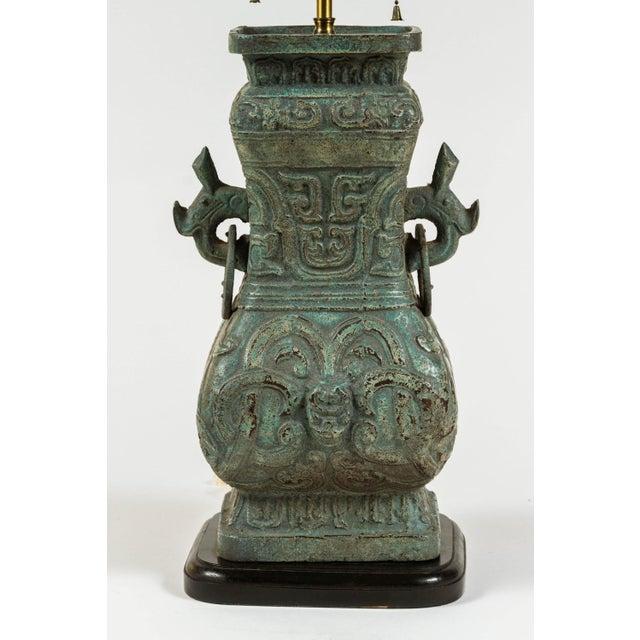 James Mont Style Cast Lamps - a Pair - Image 3 of 5