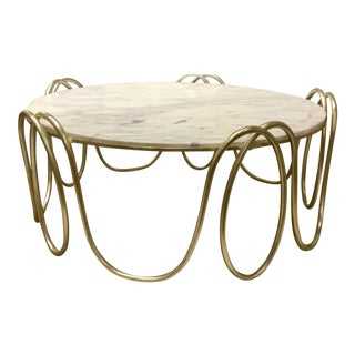 Henredon Marble Top Cocktail Table