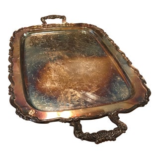 Silverplate Butler's Serving Tray For Sale