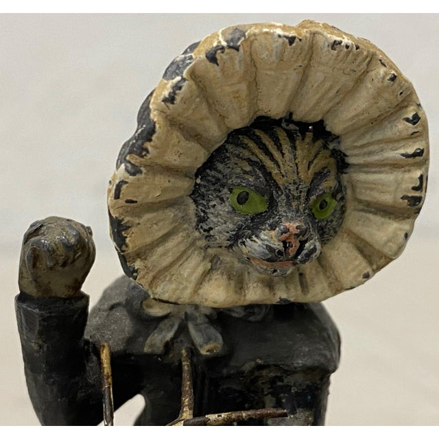 Georg Heyde Painted Metal Cats With Shaking Heads C.1890s For Sale In San Francisco - Image 6 of 8
