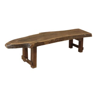 Mid-Century Rustic Log Plank Coffee Table For Sale
