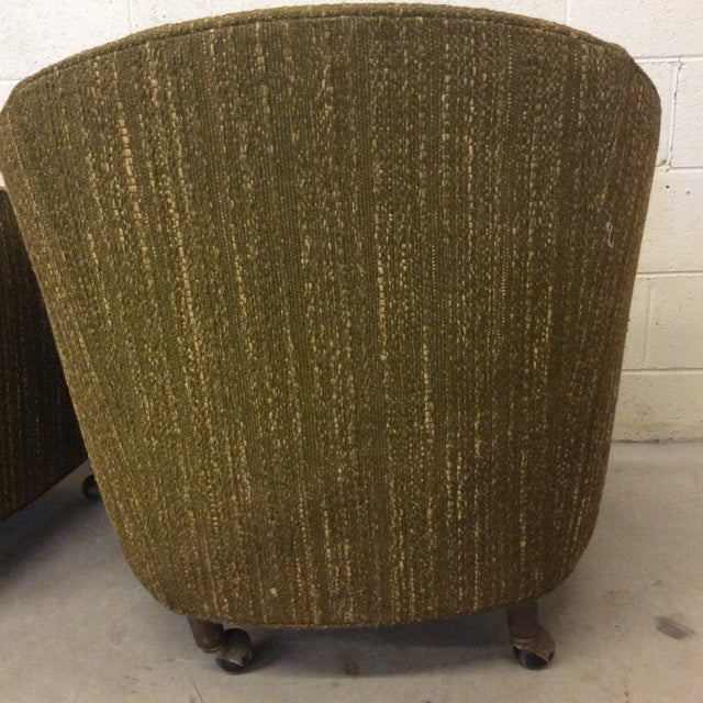 Richardson Nemschoff Horshoe Shaped Chairs - a Pair For Sale - Image 9 of 13