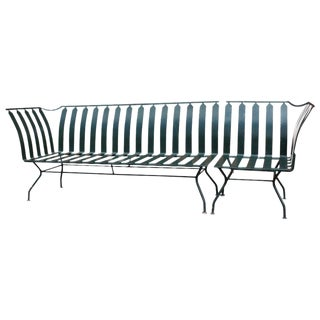 1950s Salterini Green Metal Sofa - 2 Pc. For Sale
