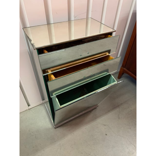 Amazing French Antique Mirrored Bedside Table/Nightstand. Estimated to be from around 1940. Purchased at an antique store...