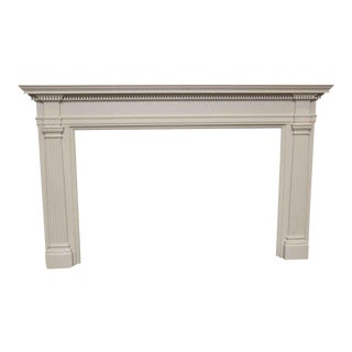 White Wooden Federal Mantel