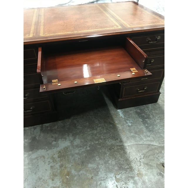 2020s English Custom Made Executive Desk For Sale - Image 5 of 10